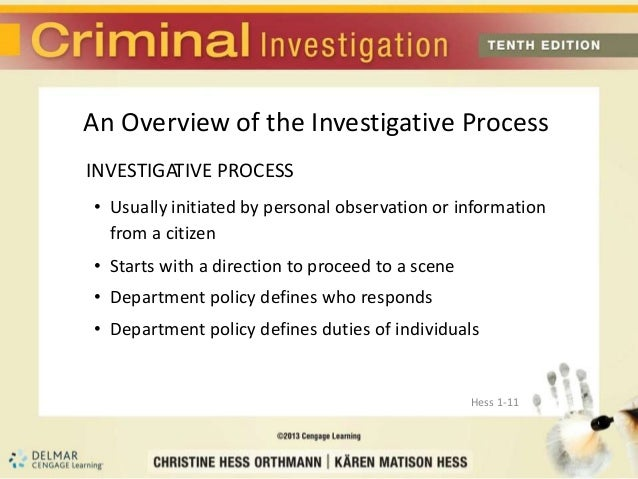 The process of death investigations