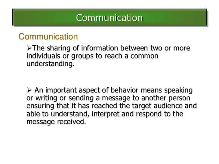 main elements of communication