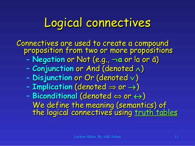 logical implication truth table explained
