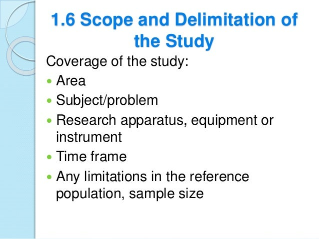 scope and delimitation sample qualitative research