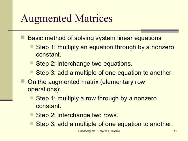 matrices and algbra