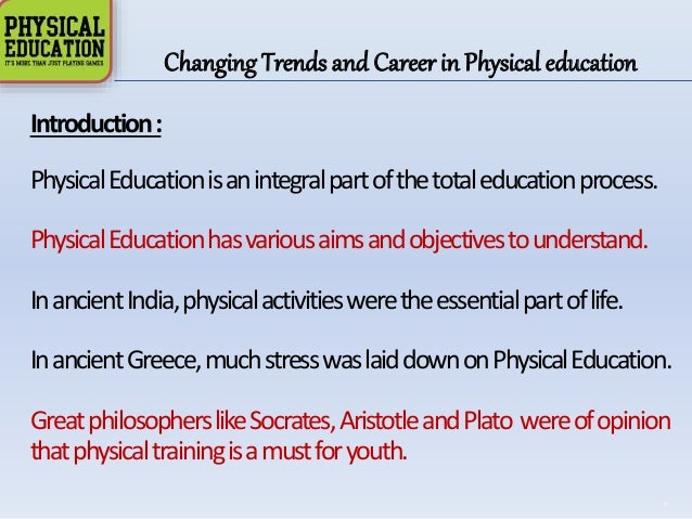 physical education essay Physical education is one of the lessons at school - the future of physical education essay introduction is it an important subject or it should be only an optional one one positive aspect of physical education lessons is children do exercises the young generation does not do any exercises and it is a huge problem.