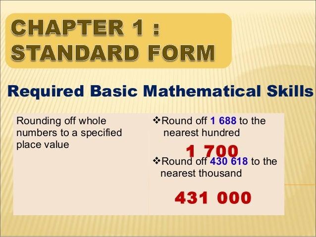 Chapter 1 standard form Slide 2