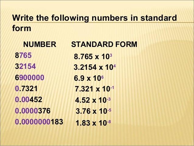 standard form number - Bindrdn.waterefficiency.co