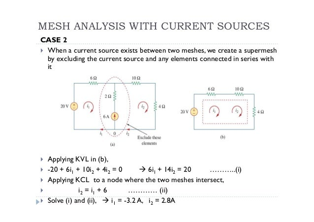 super mesh analysis solved problems