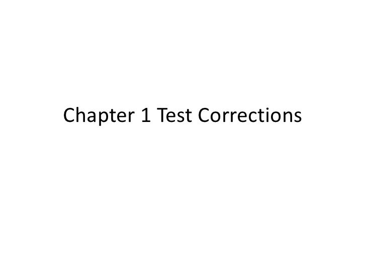 Chapter 11 test corrections