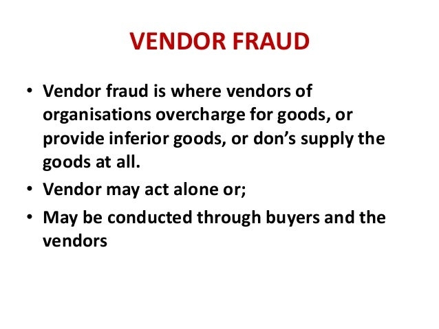 Chapter 1 :The nature of fraud