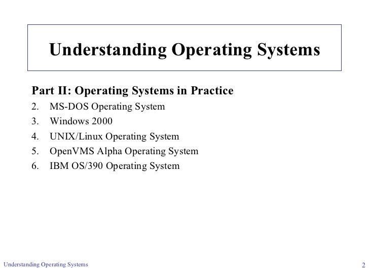 answer understanding operating systems homework help