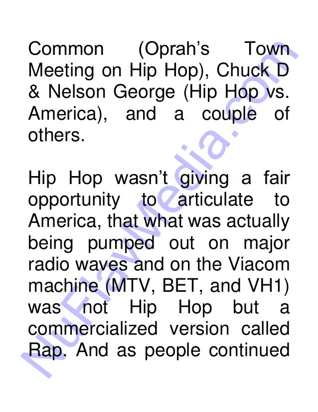 Hip Hop vs Rap E-book