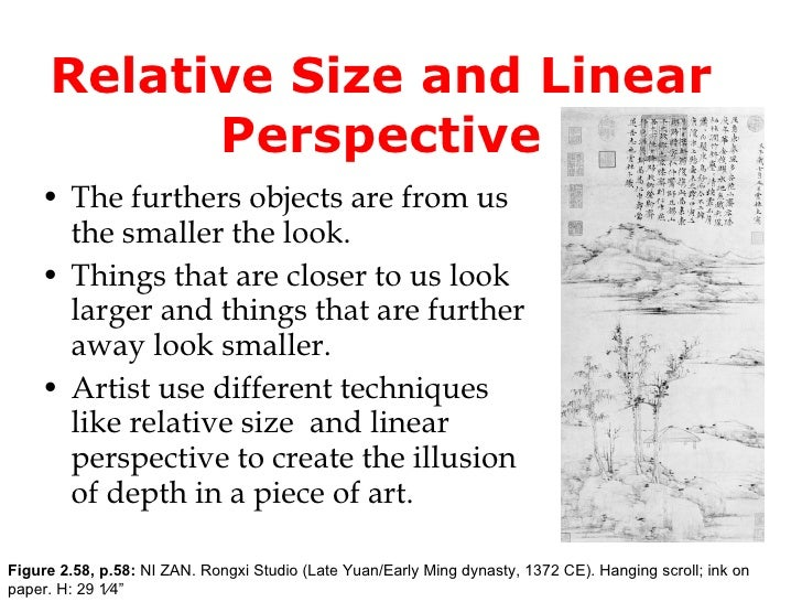 essay linear perspective In visual composition,  linear perspective in the real world makes things look smaller in the distance  (these are two versions of a similar essay.
