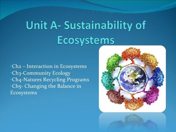 <ul><li>Ch2 – Interaction in Ecosystems </li></ul><ul><li>Ch3-Community Ecology </li></ul><ul><li>Ch4-Natures Recycling Pr...