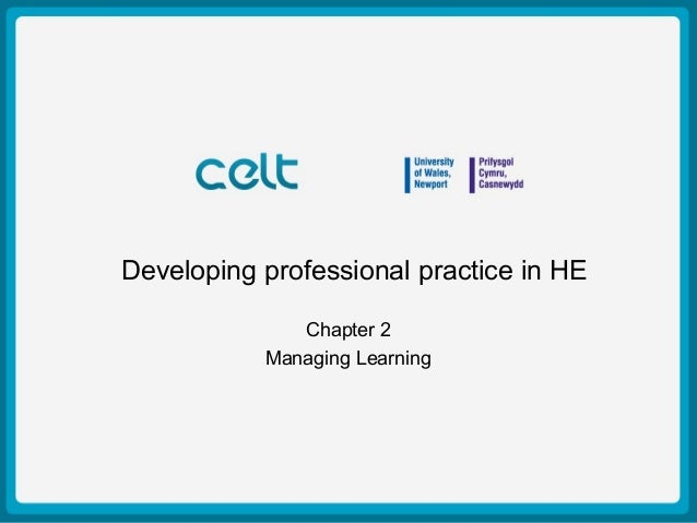 Presentation Title Example Author: Simon Haslett 15th October 2009 Developing professional practice in HE Chapter 2 Managi...