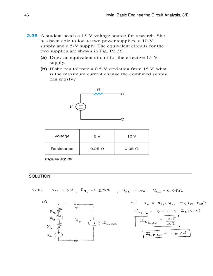 Basic Engineering Circuit Analysis 11th Edition Solutions Pdf