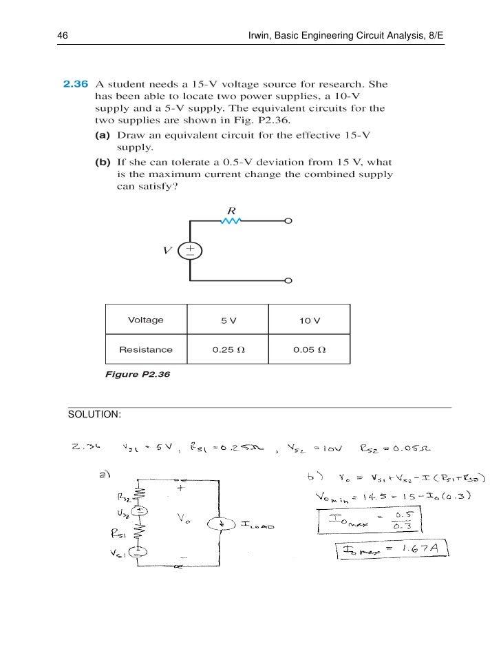 Basic Engineering Circuit Analysis 11th Edition Solutions Pdf