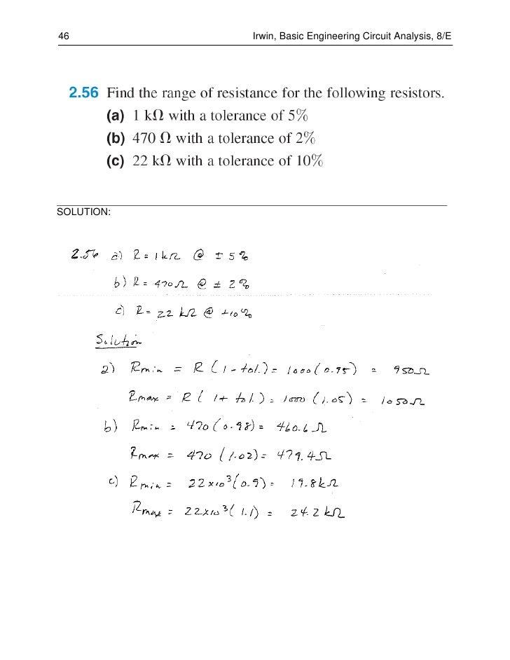 Basic Engineering Circuit Analysis 9th Edition Solutions Pdf