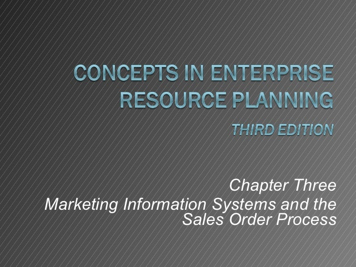 Chapter Three Marketing Information Systems and the Sales Order Process