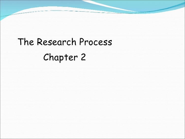 The Research Process Chapter 2