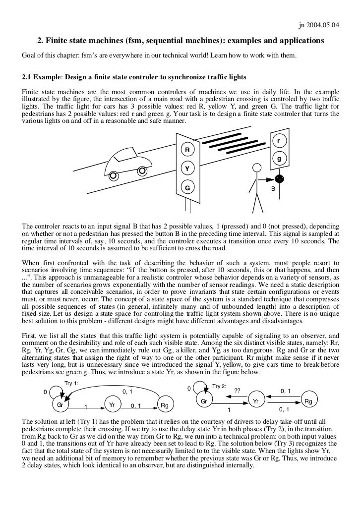 jn 2004.05.04     2. Finite state machines (fsm, sequential machines): examples and applicationsGoal of this chapter: fsm'...