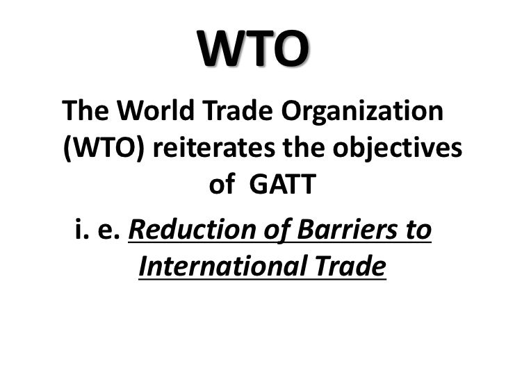 Objectives multilateral trading system