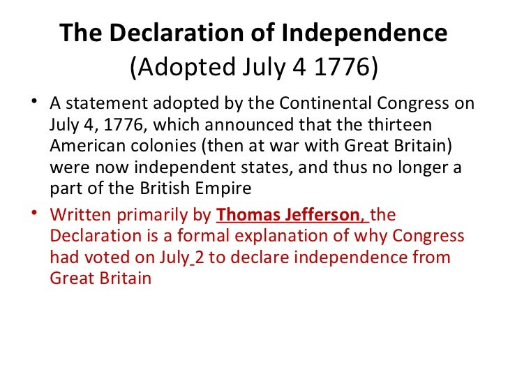 were the colonist justified in declaring independence from great britain The colonists were hesitant to declare independence because it was makeing a decaration of war and if war lost, the people who signd the independence document would be hung for treason by vengeful english leaders.