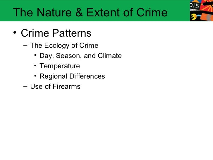 nature and extent of violent crime Nature, extent and gravity of violent crime in south africa official crime statistics are only available up to march 2006 in a world where a.