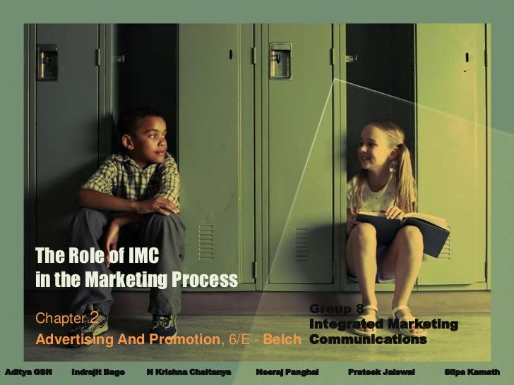 The Role of IMC      in the Marketing Process                                             Group 8      Chapter 2          ...