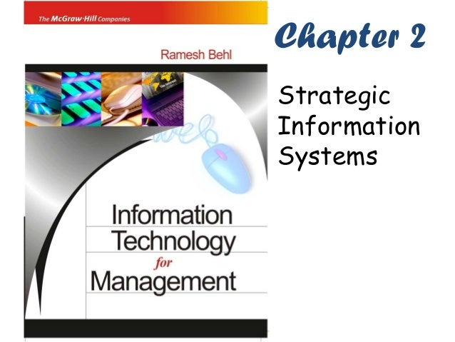 Chapter 2StrategicInformationSystems