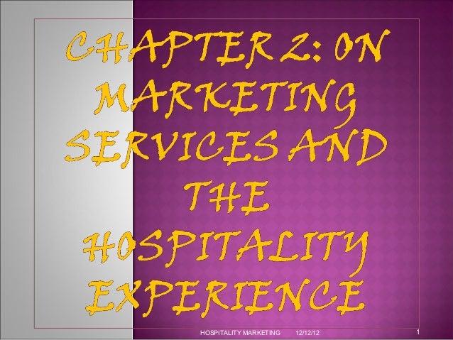 HOSPITALITY MARKETING   12/12/12   1