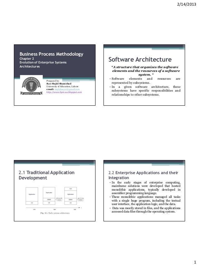 2/14/2013Business Process MethodologyChapter 2Evolution of Enterprise Systems                                             ...