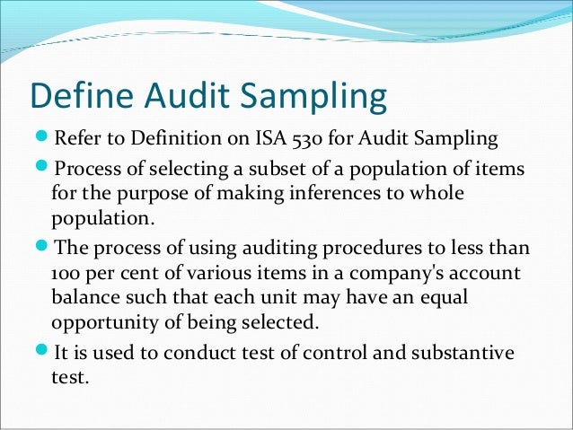 audit sampling notes