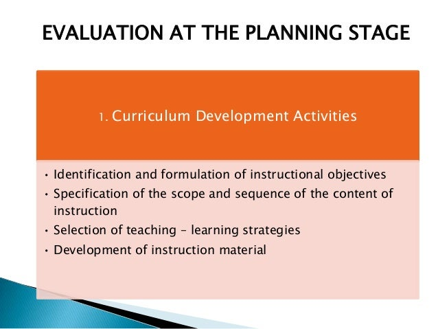 stage of curriculum development and evaluation in updating the entire u2026
