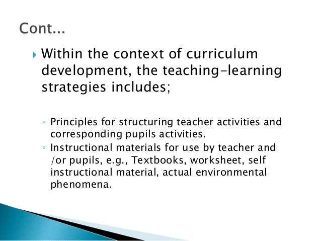 stage of curriculum development and evaluation in updating