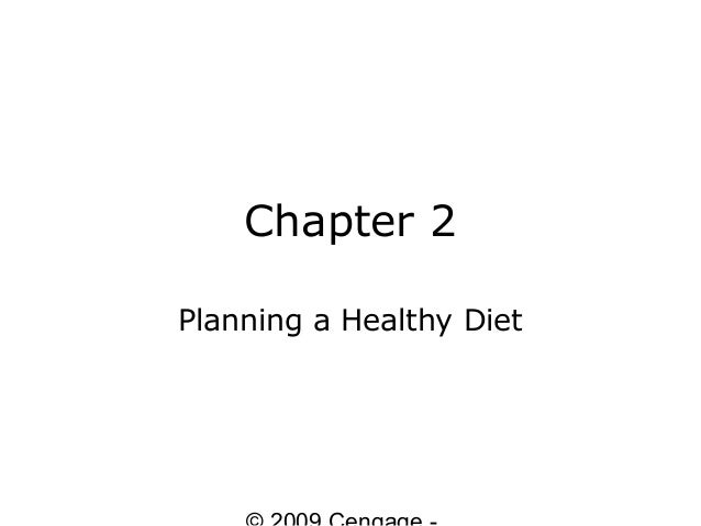 Chapter 2Planning a Healthy Diet