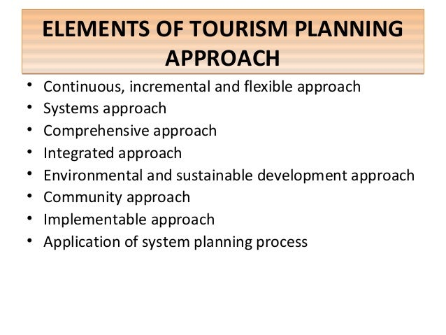 tourism planning and development paper