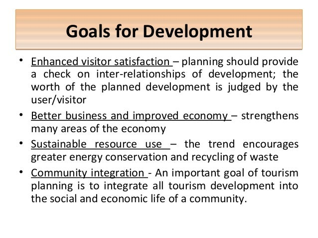 the sustainable development of tourism tourism essay Ustainable tourism, one that establishes a suitable balance between the  environmental, economic and socio-cultural aspects of tourism development,  plays an.