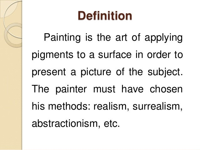 Chapter 2 in humanities prelim for Definition for mural