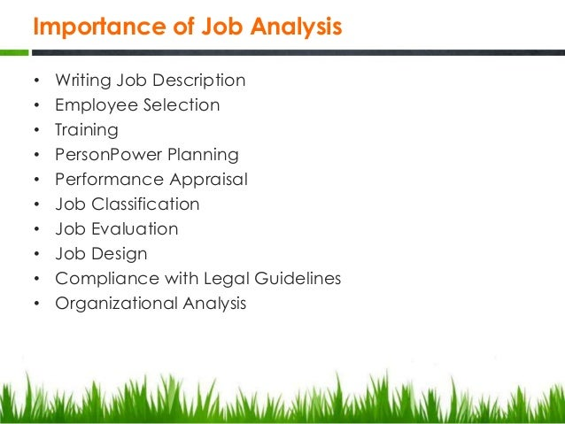 Chapter  Job Analysis And Evaluation