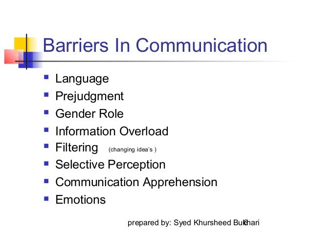 barriers to communication selective perception But there may be some faults /barriers in the communication system that prevents the message  selective perception,  the barriers to effective communication.