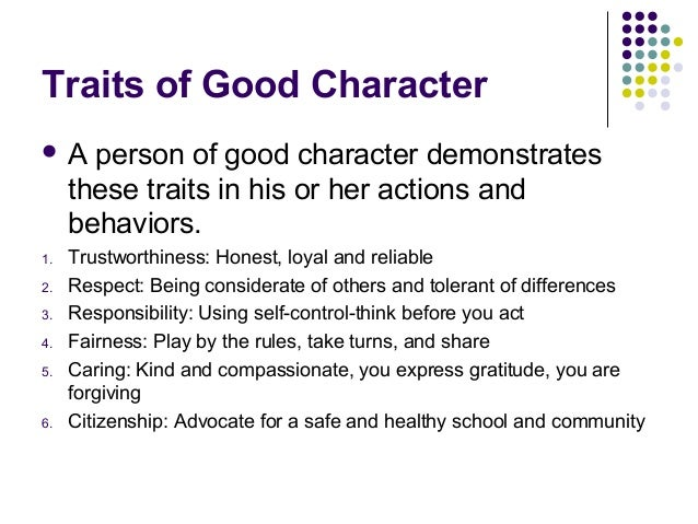Qualities of a Good Person