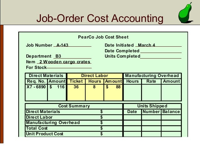 excel job costing template