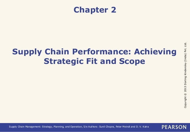Copyright © 2013 Dorling Kindersley (India) Pvt. Ltd.  Chapter 2  Supply Chain Performance: Achieving  Strategic Fit and S...