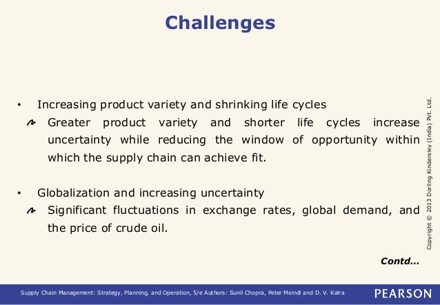 Copyright © 2013 Dorling Kindersley (India) Pvt. Ltd.  Challenges  • Increasing product variety and shrinking life cycles ...