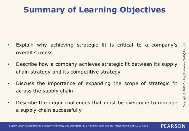Copyright © 2013 Dorling Kindersley (India) Pvt. Ltd.  Summary of Learning Objectives  • Explain why achieving strategic f...