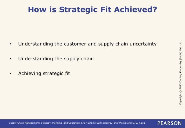 Copyright © 2013 Dorling Kindersley (India) Pvt. Ltd.  How is Strategic Fit Achieved?  • Understanding the customer and su...