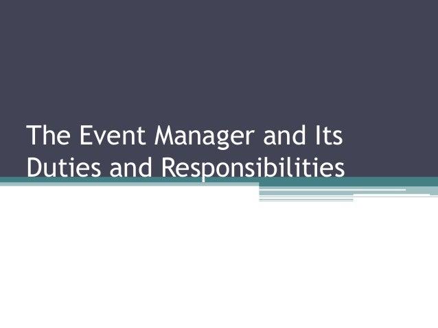 duties of an event planner