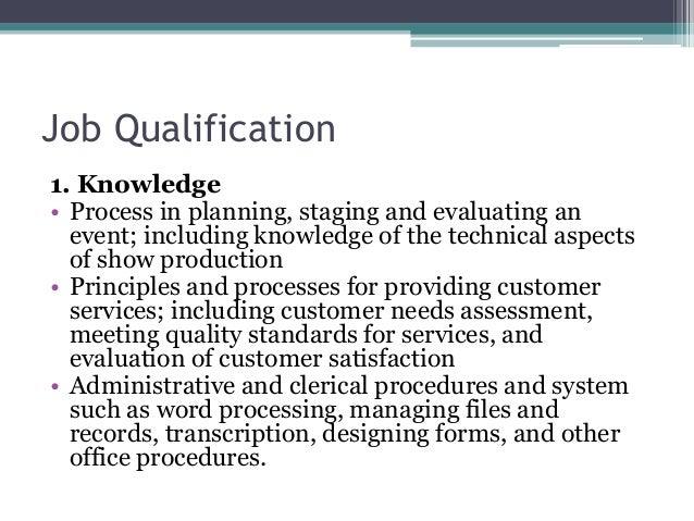 Job Qualification 1.