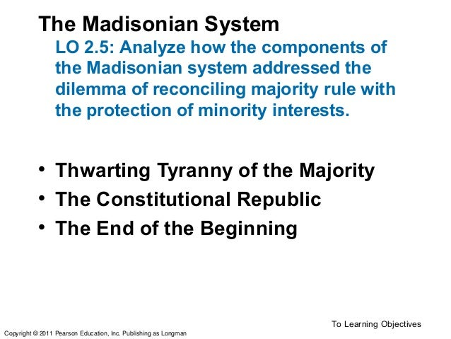 """madisonian dilemma Free essay: in discussing the madisonian dilemma, one must first ask, """"how do  you give government enough authority to preserve social order and communal."""