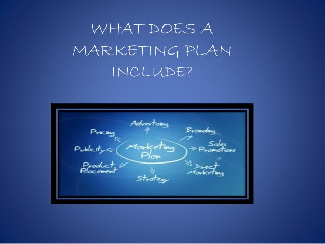 WHAT DOES A MARKETING PLAN INCLUDE?