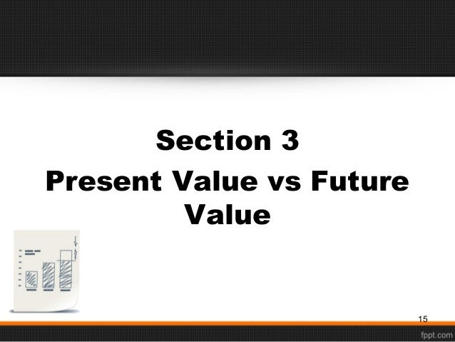 chapter 2 time value of money Time value of money problems involve the net value of cash flows at different points in time in a typical case, the variables might be: a.