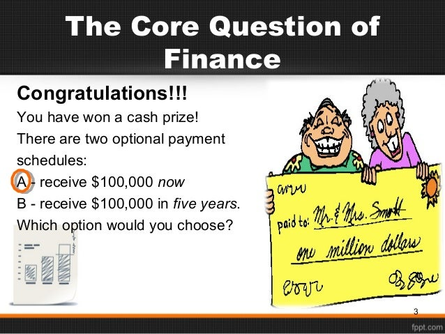 chapter 2 time value of money Chapter 3: the time value of money  2 with continuous compounding at 10  percent for 30 years, the future value of an initial investment of $2,000 is closest  to.